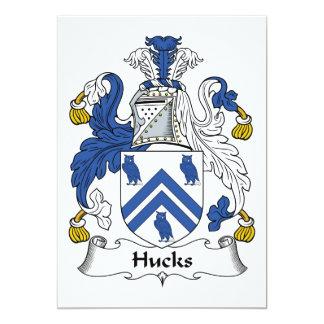 """Escudo de la familia de los Hucks Invitación 5"""" X 7"""""""