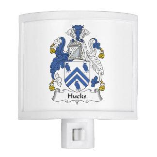 Escudo de la familia de los Hucks Lámpara De Noche