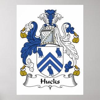 Escudo de la familia de los Hucks Póster
