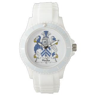 Escudo de la familia de los Hucks Relojes De Mano
