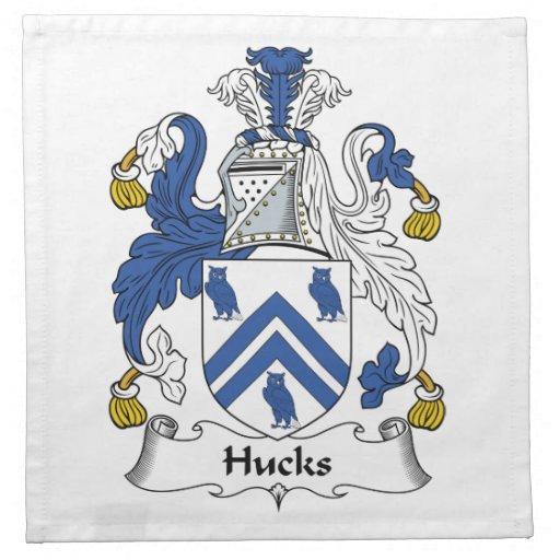 Escudo de la familia de los Hucks Servilleta