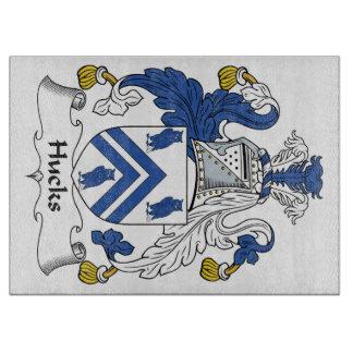 Escudo de la familia de los Hucks Tabla Para Cortar