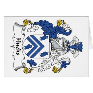 Escudo de la familia de los Hucks Tarjeta De Felicitación
