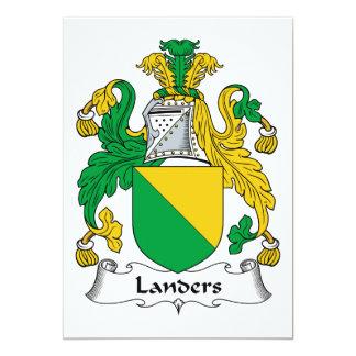 """Escudo de la familia de los Landers Invitación 5"""" X 7"""""""