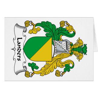 Escudo de la familia de los Landers Tarjeta De Felicitación