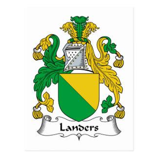 Escudo de la familia de los Landers Tarjetas Postales