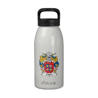 Escudo de la familia de los medios galopes botella de agua reutilizable