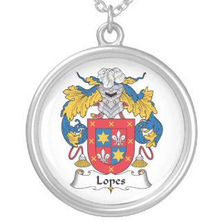Escudo de la familia de los medios galopes pendientes personalizados