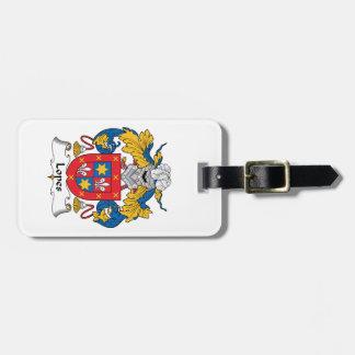 Escudo de la familia de los medios galopes etiquetas de maletas