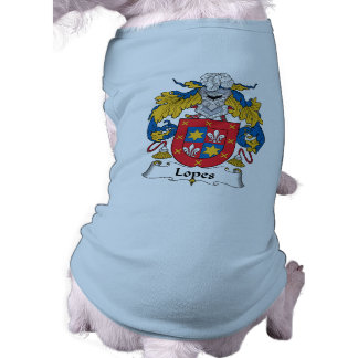 Escudo de la familia de los medios galopes camiseta de mascota