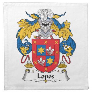 Escudo de la familia de los medios galopes servilleta