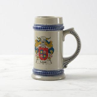 Escudo de la familia de los medios galopes tazas de café