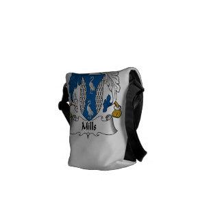 Escudo de la familia de los molinos bolsas de mensajería