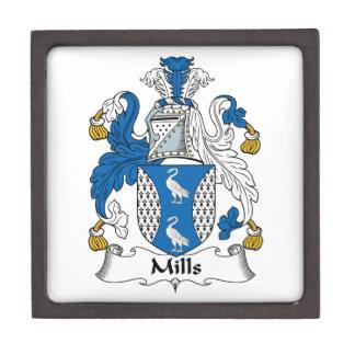 Escudo de la familia de los molinos caja de joyas de calidad