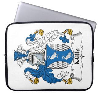Escudo de la familia de los molinos funda portátil