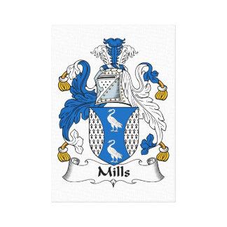 Escudo de la familia de los molinos impresión en lona estirada