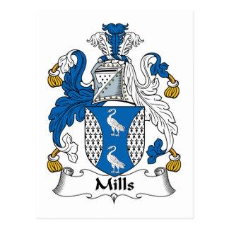 Escudo de la familia de los molinos postal