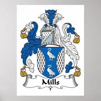 Escudo de la familia de los molinos poster