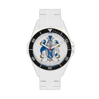 Escudo de la familia de los molinos reloj de mano