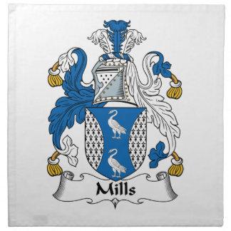 Escudo de la familia de los molinos servilletas