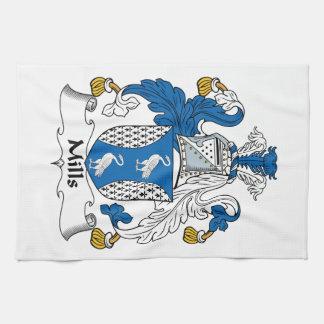 Escudo de la familia de los molinos toallas