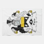 Escudo de la familia de los pares toallas