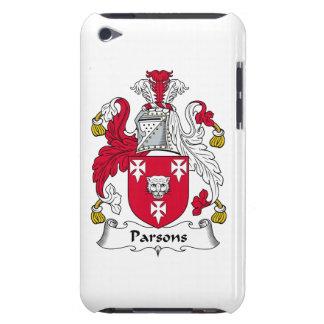 Escudo de la familia de los párrocos barely there iPod protector