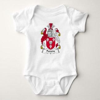 Escudo de la familia de los párrocos body para bebé