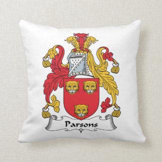 Escudo de la familia de los párrocos cojines