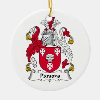 Escudo de la familia de los párrocos adorno de navidad