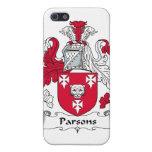 Escudo de la familia de los párrocos iPhone 5 carcasa