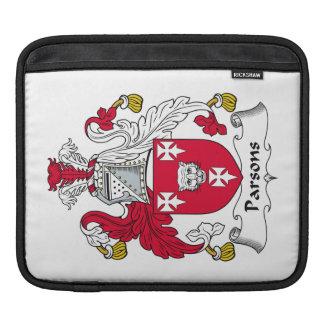 Escudo de la familia de los párrocos funda para iPads