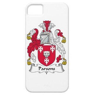Escudo de la familia de los párrocos funda para iPhone 5 barely there