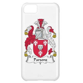 Escudo de la familia de los párrocos funda para iPhone 5C