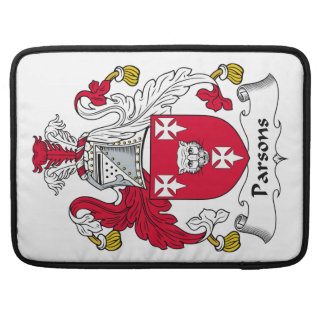 Escudo de la familia de los párrocos fundas para macbooks