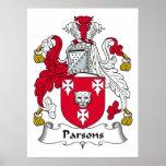 Escudo de la familia de los párrocos impresiones