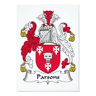 """Escudo de la familia de los párrocos invitación 5"""" x 7"""""""