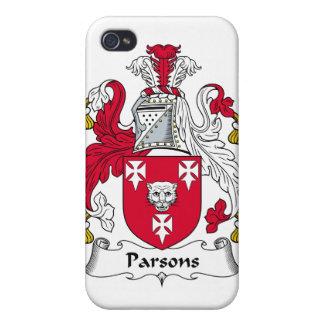 Escudo de la familia de los párrocos iPhone 4/4S carcasa