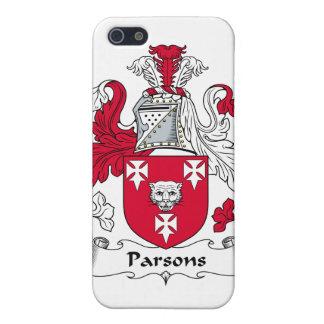 Escudo de la familia de los párrocos iPhone 5 carcasas