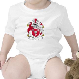 Escudo de la familia de los párrocos trajes de bebé