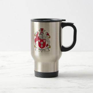 Escudo de la familia de los párrocos taza de viaje de acero inoxidable