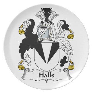 Escudo de la familia de los pasillos platos