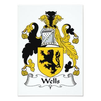 Escudo de la familia de los pozos invitacion personalizada