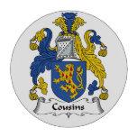 Escudo de la familia de los primos juego de fichas de póquer