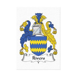 Escudo de la familia de los ríos lona estirada galerías
