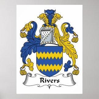 Escudo de la familia de los ríos póster