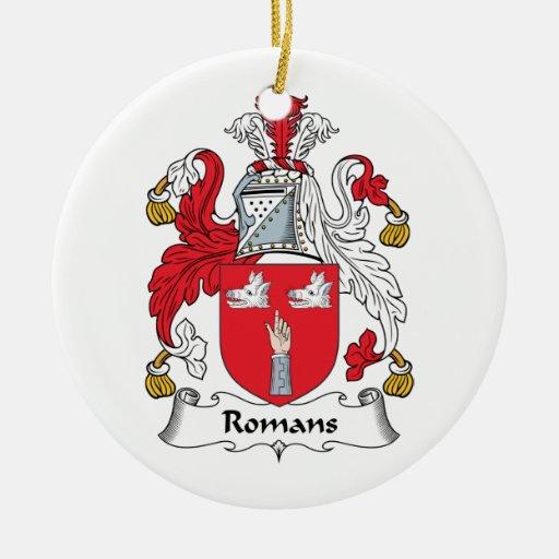 Escudo de la familia de los romanos adorno redondo de cerámica