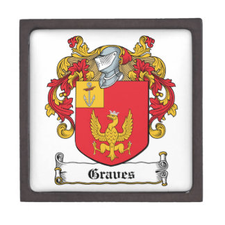 Escudo de la familia de los sepulcros cajas de recuerdo de calidad