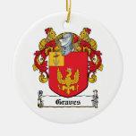 Escudo de la familia de los sepulcros ornamentos de navidad