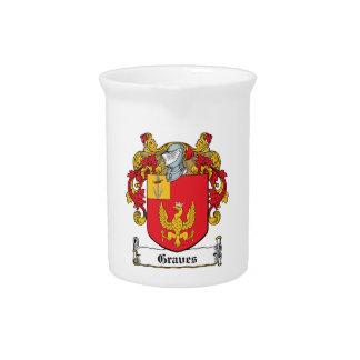 Escudo de la familia de los sepulcros jarra para bebida